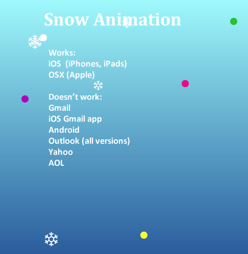 CSS Animation in Email – Falling Image Effect