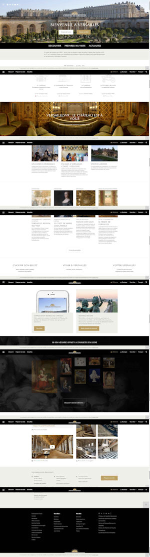 Screen capture of Chateau Versailles website