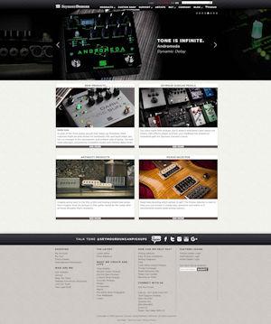 screen-capture of seymourduncan.com website