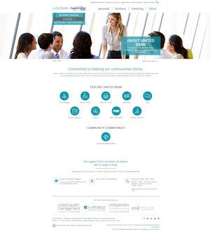 screen capture of united bank website