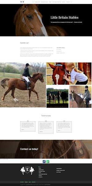 screen capture of Little Britain Stables website
